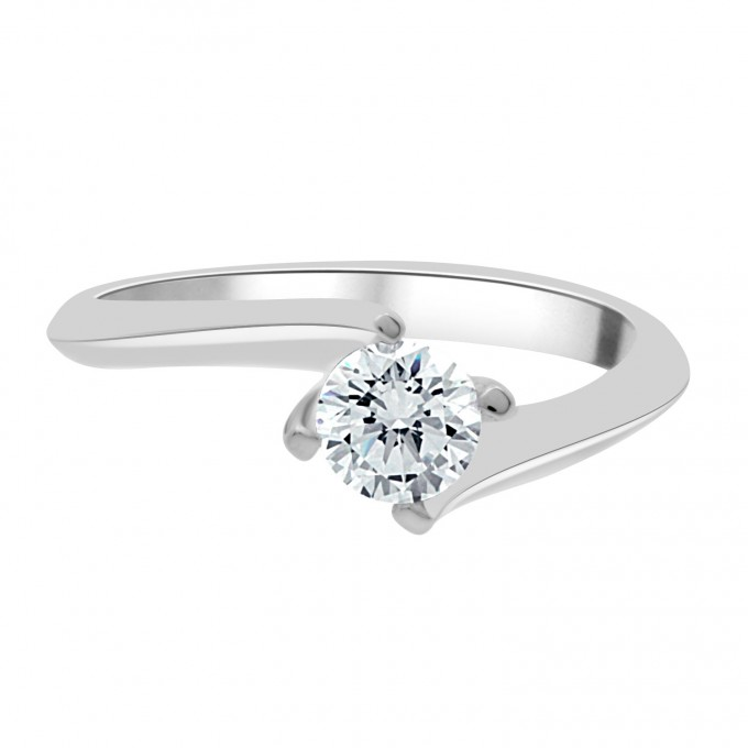 Tess - .70 carat compass set engagement rig with a twisted shank