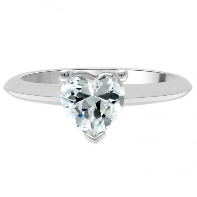 Gwen - .80 carat heart shape diamond engagement ring