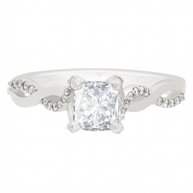 Ritz - Diamond Twist Engagement Ring