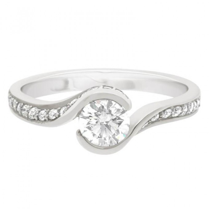 Sofia (DS)  - Halo Twist Engagement Ring
