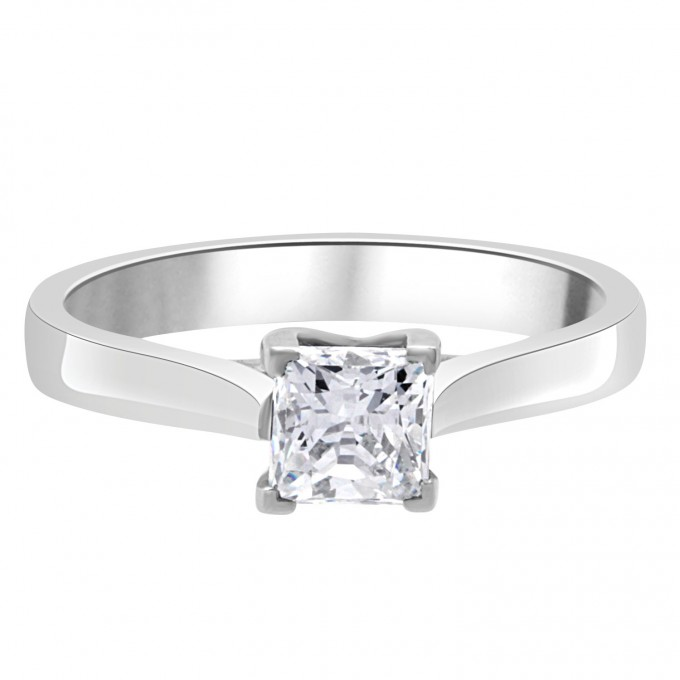 Sienna - 70ct Priness cut diamond engagement ring