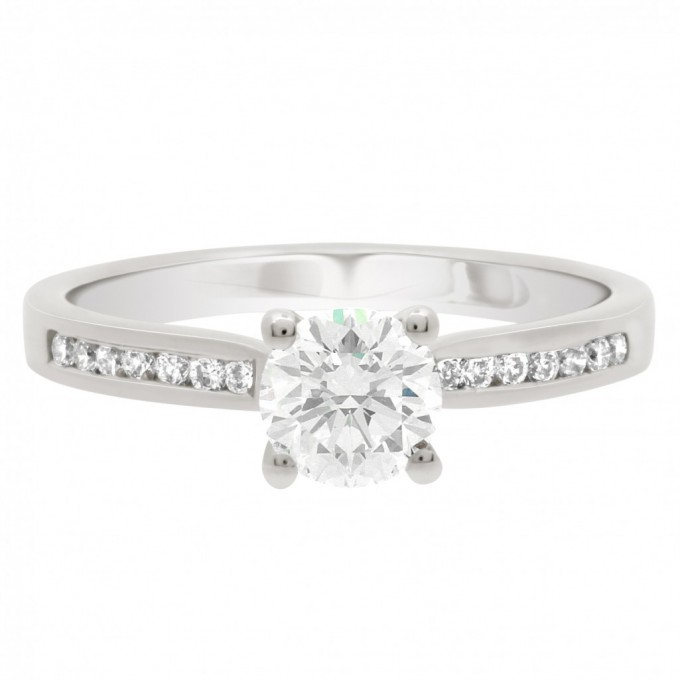 Tanya - Channel Set Solitaire Engagement Ring