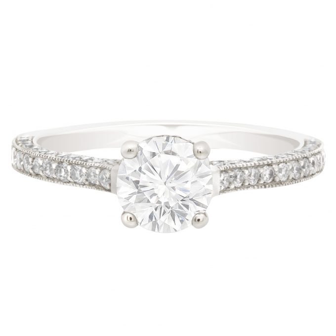 Gemma - Thin Band Solitaire Engagement Ring