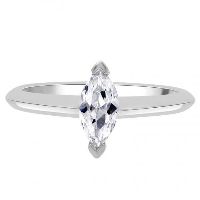 Macy - .80ct Marquise cut diamond engagement ring