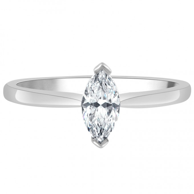 Lydia - .77ct Marquise cut diamond engagement ring