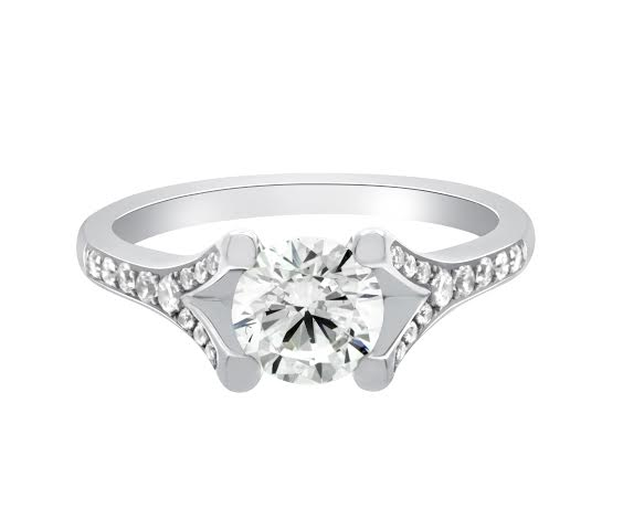 Dakota - Solitaire Split Shank Engagement Ring