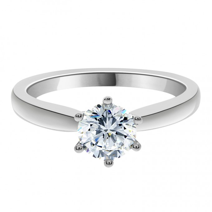 Zara - : 1 carat Six Claw Engagement Ring