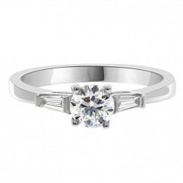 Niamh - Round Diamond With Tapered Baguettes