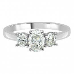 Lucy - Three stone Oval Engagement Ring