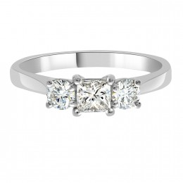 Abigail - Princess Cut and Round Diamond Trilogy