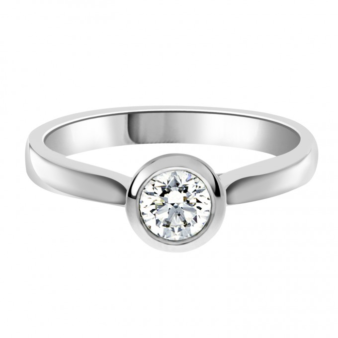 Laura - 60ct Bezel Set Engagement ring