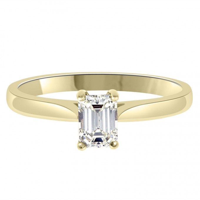 Jane - .75ct Emerald Cut Solitaire Engagement ring